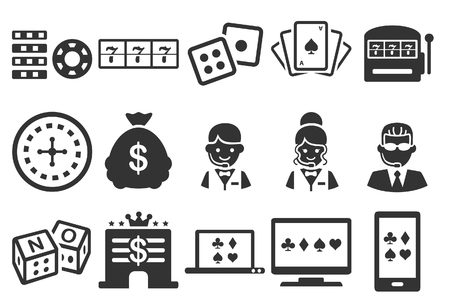 Stock Vector Illustration: Casino icons - Illustration - Illustration