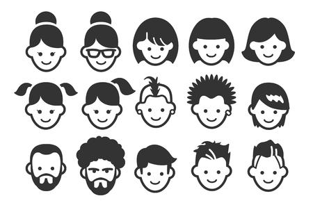 Stock Vector Illustration: Avatar icons 1 - Illustration