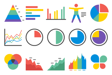Stock Vector Illustration: Stat and Info icons set2 - Illustration