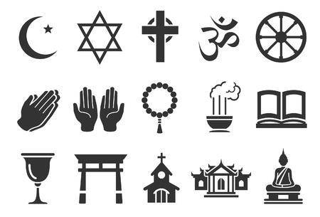 begging: Stock Vector Illustration: Religious icons - Illustration