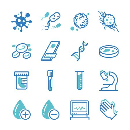 Medical laboratory icons - Illustration
