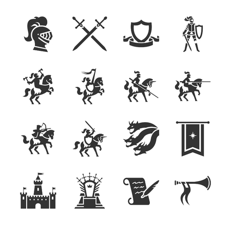 Stock Vektorgrafik Illustration: das Mittelalter - Illustration Standard-Bild - 77150486