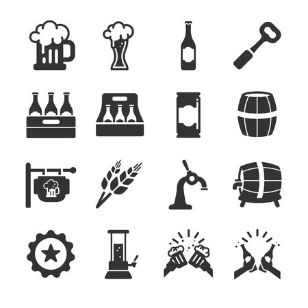 guinness: Beer icons - Illustration