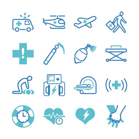 Emergency icons set - Illustration Vektorové ilustrace