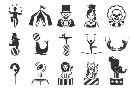 Stock Vector Illustration: Circus icons set 1 - Illustration