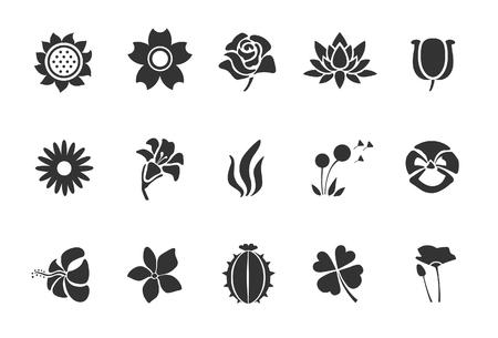 Flower icons - Illustration - Illustration