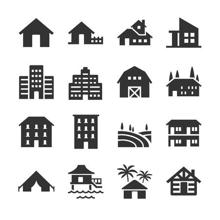 Accommodation type icons - Illustration