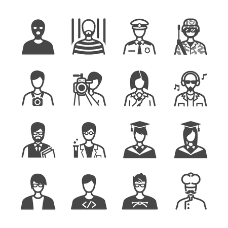Occupation icons set - Illustration Stock Illustratie
