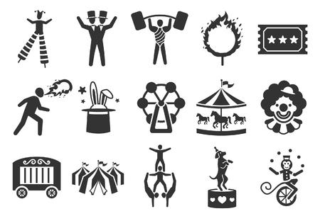 Stock Vector Illustration: Circus icons set 2 - Illustration
