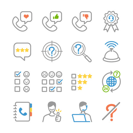 switchboard operator: Customer feedback icons - Illustration