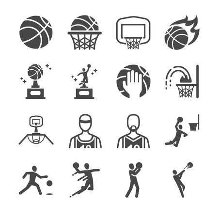 nba: Basketball icons set - Illustration