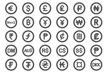 deutschemarks: Currency icons - Illustration - Illustration