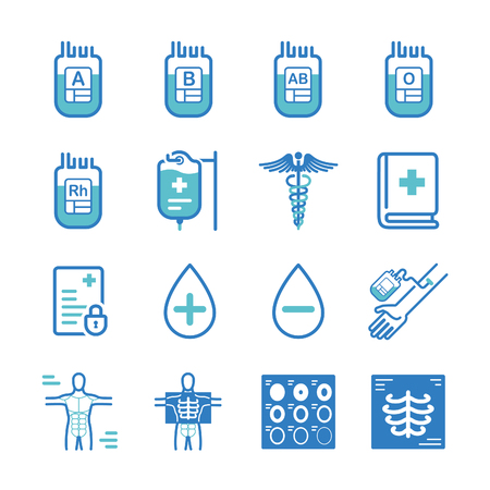 hospital icon: Blood donation and medical icons - Illustration