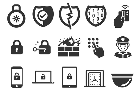 Stock Vector Illustration: Security icons set 1 - Illustration