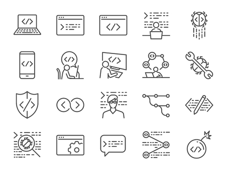 Developer icon set.