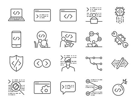 Conjunto de iconos de desarrollador.