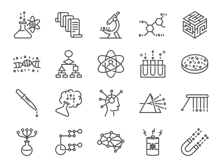 Data science icon set.