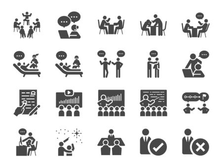 Mentor icon set. Included icons as adviser, counsellor, consultant, teaching, guide, guidance and more.