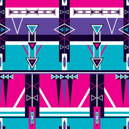 wallpaper: Seamless ethnic tribal pattern Geometric shapes triangle stripe ornament