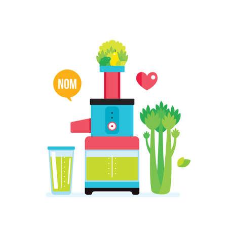 Making fresh healthy organic smoothie juice Kitchen appliance Juicer Blender