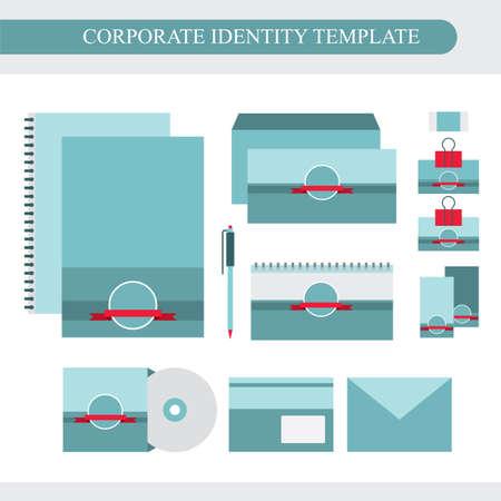 Corporate identity design template. Business kit. Vector illustration
