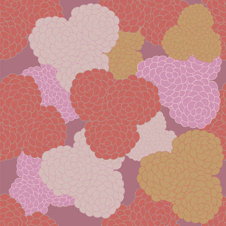 Floral seamless background pattern. Hand - drawn elements.Template for textile,paper,greeting card,postcard design,backdrop,banner. Vector illustration