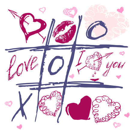 lipstick kiss: The valentines day. Love heart. Hand-drawn icons.