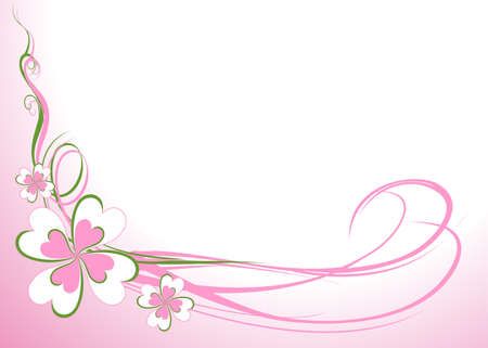 Flower background Vector illustration Ilustração