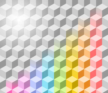 Abstract vector rainbow background. Eps 10 Stock Vector - 9865139