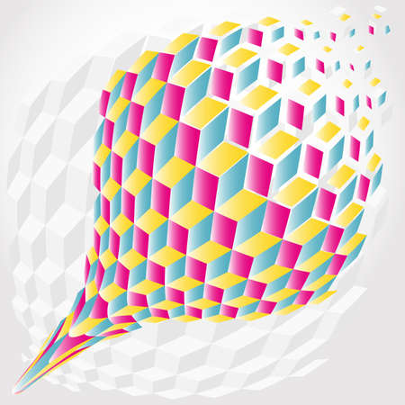 Abstract color hexagon background Illustration