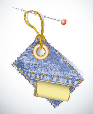clothes label: sale tags, price and discount percents and a money back guarantee badge Illustration