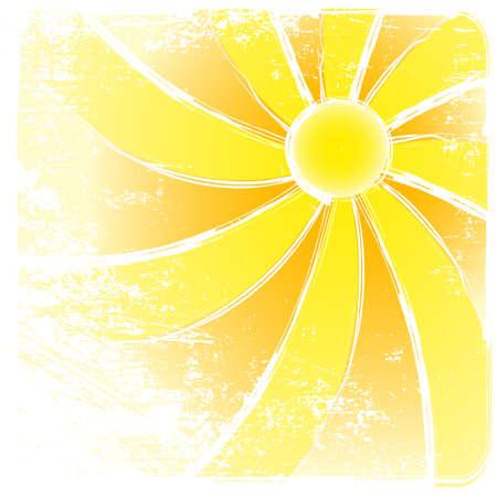 Sunburst grunge en abstracte achtergronden. Vector illustratie