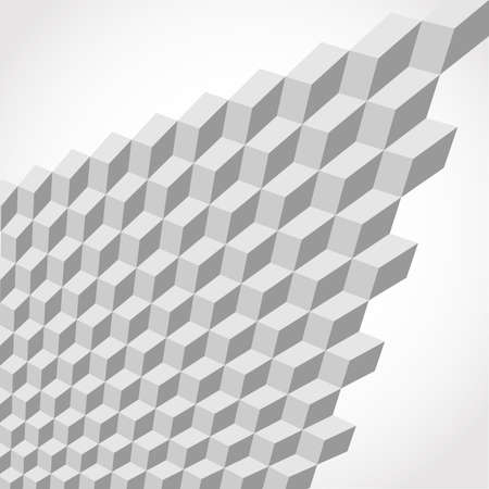 abstract smooth white metallic cubes as background 3d Illustration