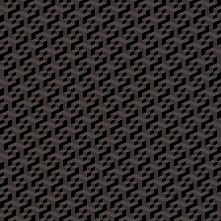 Dark hexagon metallic background metal grill. Speaker texture, grate, wire. Abstract seamless pattern. Repeat illustration. Vector