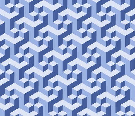 geometria: Im�genes vectoriales azul de fondo. Resumen de cubos arte 3d de fondo Vectores