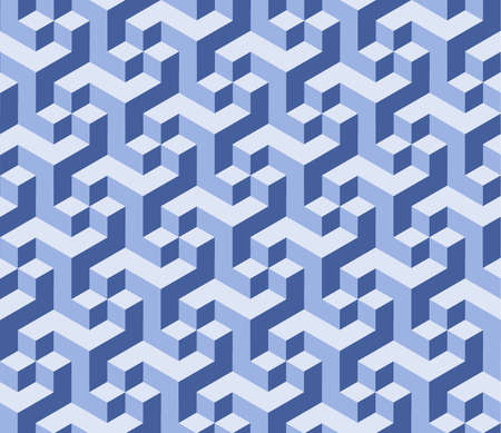 Vector art blue Background. Abstract cubes art background 3d Ilustração