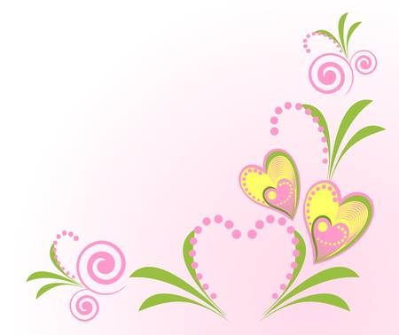composing: Valentine background with sweets composing a frame for your text