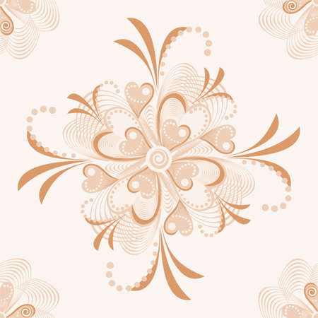 Seamless retro background with flower heart. abstract background with nature theme.