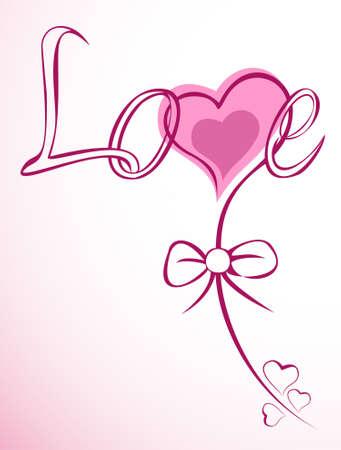 Wonderful love heart flower.  Stock Vector - 10256087