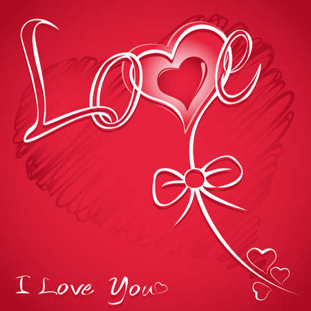 Love red background with hearts   Vector