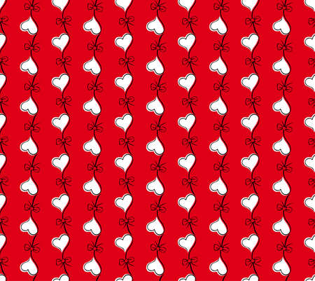 red seamless pattern with flower heart. Valentines day background Stock Vector - 10310999
