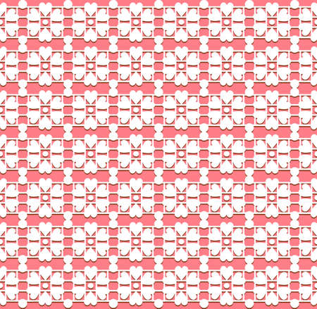 Ornamental lace pink pattern. Seamless background. Vector