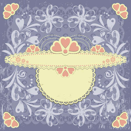 Ornate engraved vintage decorative vector floral frame with place for text or message Stock Vector - 10386149