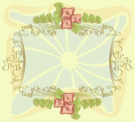 Vector achtergrond, frame met bloemen elementen Vector Illustratie