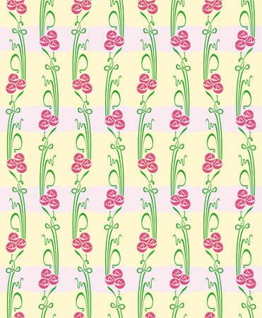 Bloemen naadloze rechte patroon met bloemen. Eindeloze bloemen textuur voor textiel.