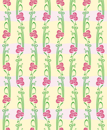 Floral seamless straight pattern with flowers. Endless floral texture for textile.
