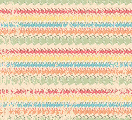 Retro color vector grange seamless pattern. vintage striped background.  Endless texture for textile. Vector