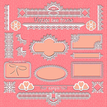 Vector set of vintage framed ornate labels  Vector