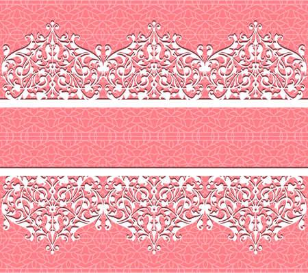 Vector kant achtergrond Kaart met een figured kant Floral background Stockfoto - 13076283