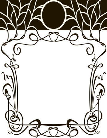 Art nouveau frame  Vector wedding background  Design elements